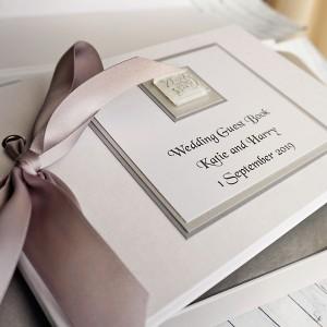Lomond Wedding Guest Book - Linen Finish