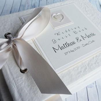 Atholl Wedding Guest Book - textured finish