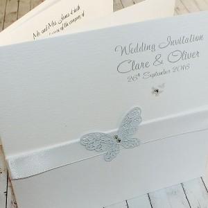 HARRIS Classic Handmade Wedding Invitations - white
