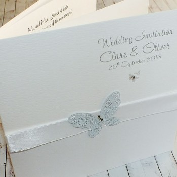 HARRIS Classic Handmade Wedding Invitations - white