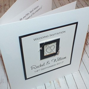 Jura Wedding Invite - Black & White