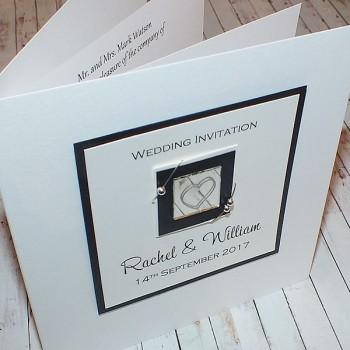 Jura Wedding Invite - Black & White