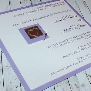 "Handmade Flat Wedding Invitation ""JURA"""