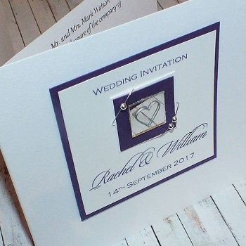 Jura Wedding Invite - Purple