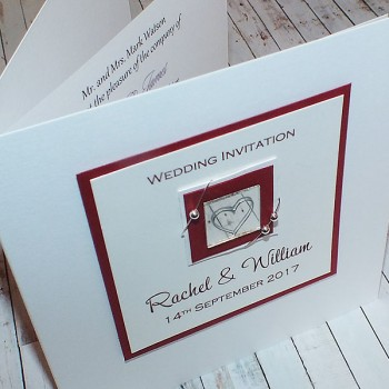 Jura Wedding Invite - Red