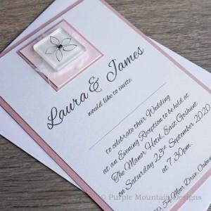 KEEN Handmade Flat Wedding Invite with daisy
