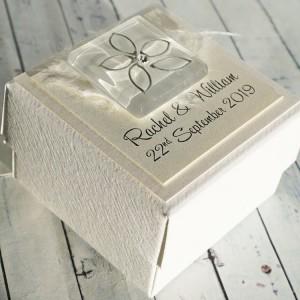 Keen wedding favour box