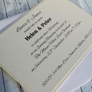 KEEN Handmade Flat Wedding Invitation