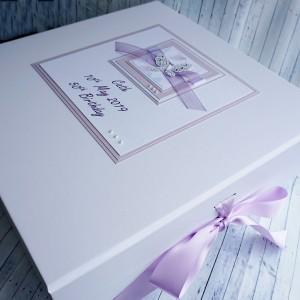 Birthday Keepsake Box Lilac Butterflies