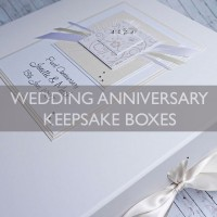Wedding Anniversary Keepsake Boxes