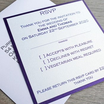 Leven Handmade Reply Cards