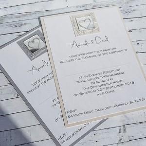 Liath Handmade Flat Wedding Invitations