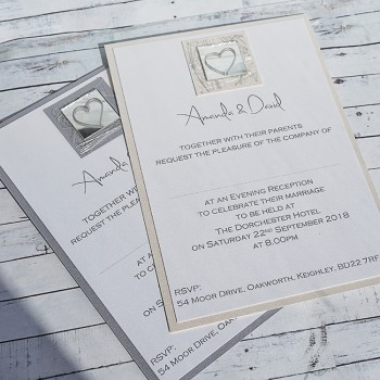Liath Handmade Flat Wedding Invitations