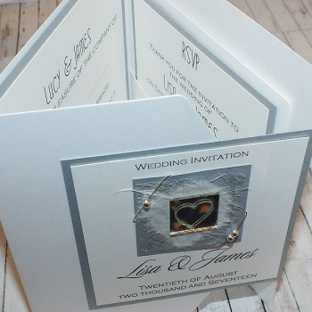 Liath Pocketfold Wedding Invitations