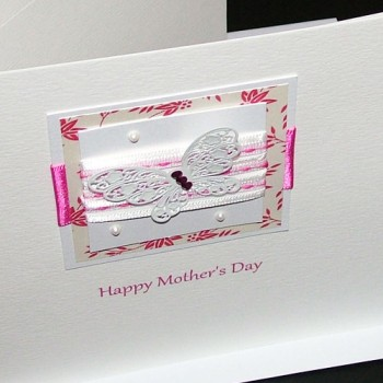 "Handmade Mother's Day Card ""Butterfly Ribbons"""
