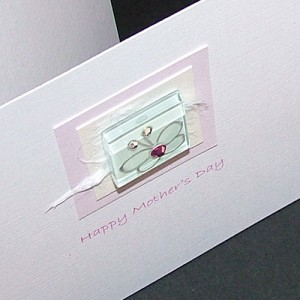 """Handmade Mother's Day Card """"Glass Butterfly"""""""