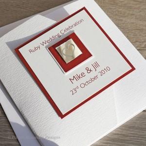 Ruby wedding invitation - mirror