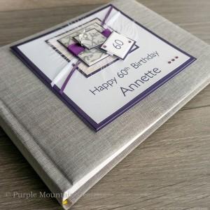 Purple 60th Birthday Photo Album