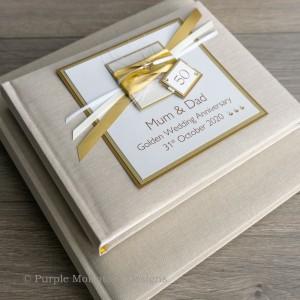 Gold Wedding Anniversary Photo Album
