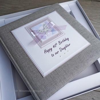 "Birthday Photo Album ""Lilac butterflies"""
