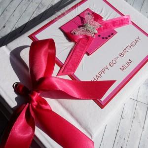 "Birthday Photo Album ""Pink Ribbons"""