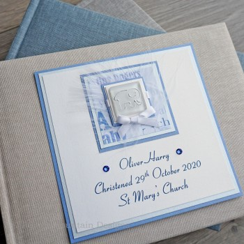 Christening Photo Album for a Boy