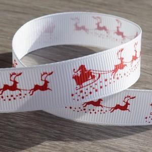 Santa's sledge Christmas grosgrain ribbon