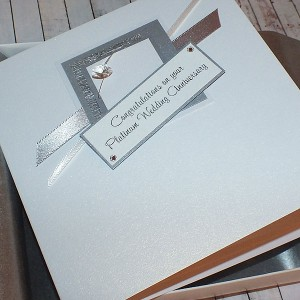 Platinum Wedding Anniversary Boxed Card