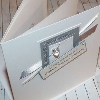 Platinum Wedding Anniversary Card