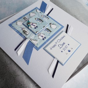 "Luxury Boxed Card ""Baby Boy First Christmas"""