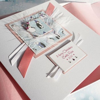 "Luxury Boxed Card ""Baby Girl's First Christmas"""