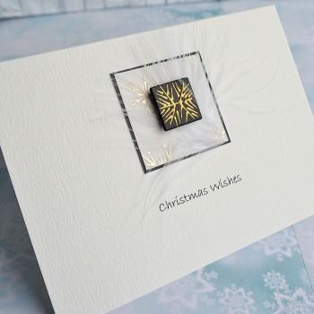 "Handmade Christmas Card ""Black & Gold"""