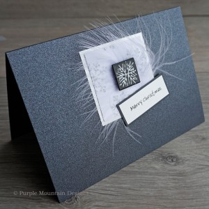 "Handmade Christmas Card ""Black & Silver"""