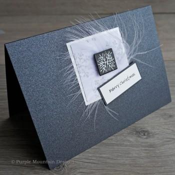 "Handmade Christmas Card ""Black & Silver"""