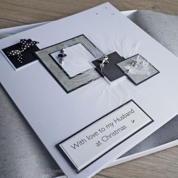 "Luxury Boxed Christmas Card ""Xmas Cascade"""
