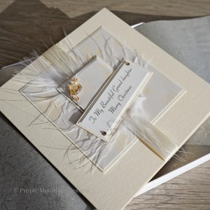 "Luxury Boxed Christmas Card ""Cream Snowflakes"""