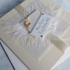 "Luxury Christmas Card ""Cream Snowflakes"""