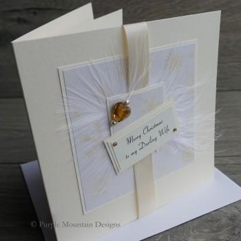 "Luxury Christmas Card ""Cream Snowflakes"""