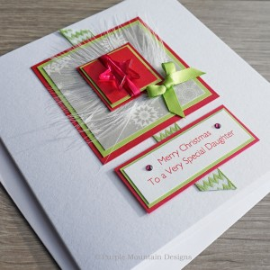 "Luxury Christmas Card ""Lime & Pink"""