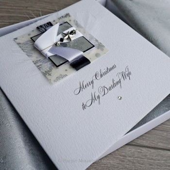 "Luxury Boxed Christmas Card ""Midnight Snowfall"""
