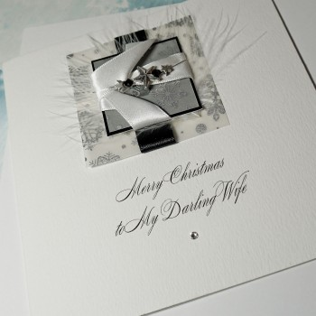 "Luxury Christmas Card ""Midnight Snowfall"""