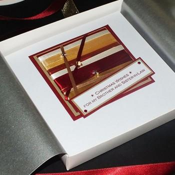 "Luxury Boxed Christmas Card ""Nutmeg"""
