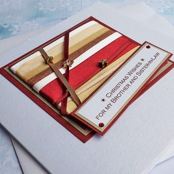 "Luxury Christmas Card ""Nutmeg"""