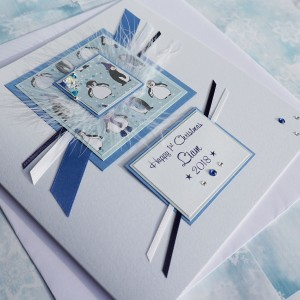 "Handmade Christmas Card ""Baby Boy First Christmas"""