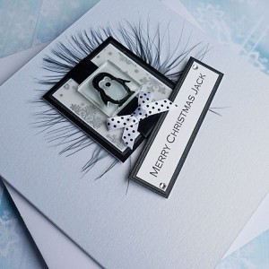 "Luxury Christmas Card ""Penguin"""
