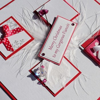 "Luxury Christmas Card ""Pink Boxes"""