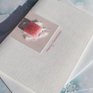 "Handmade Christmas Card ""Pink Star"""