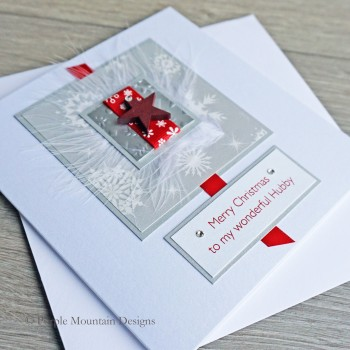 """Luxury Christmas Card """"Red Star"""""""