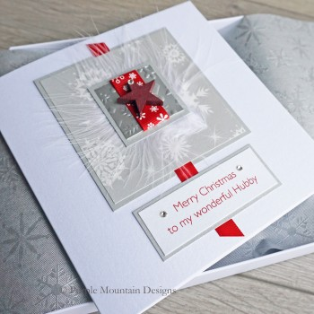"""Luxury Boxed Christmas Card """"Red Star"""""""