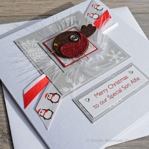 "Luxury Christmas Card ""Robin"""